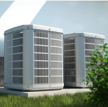 Two outdoor units in need of HVAC Repair in Bloomington IL